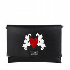 Borsa Clutch Cuore Vegan in materiale riciclato ecologico