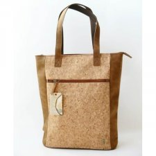 Borsa Cork Shopper Equo Solidale in sughero ed ecopelle vegan