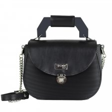 Borsa Everyday Dark in eco-pelle vegetale e pvc riciclato
