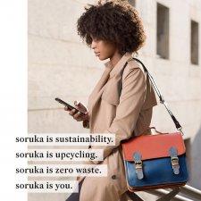 Borsa Messenger Premium in pelle riciclata EquoSolidale