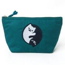Pochette portatrucco Kit & Yang in cotone EquoSolidale