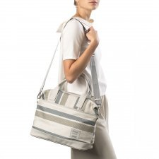 Borsa Vegan ESSENTIAL City Bag Riga Crema