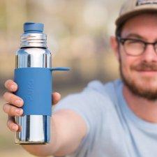 Bottiglia termica PURA 650 ml con TAPPO SPORT in acciaio inox
