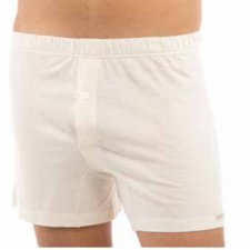 Boxer in organic cotton with button