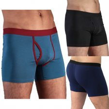 Boxer Shorts con apertura in cotone biologico
