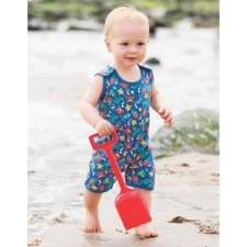 Boy dungaree Happy Sea in organic cotton