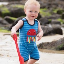 Boy dungaree Ocean in organic cotton