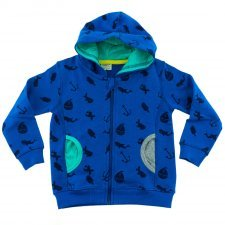 Boy blue hood Sea in organic cotton