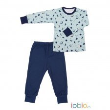 Pyjama Popolini Moon and Star in organic cotton
