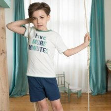 Boy short pyjamas in organic cotton