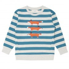 Boy sweater 3 Foxes in organic cotton Sense Organics