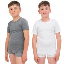 Boy's undershirt in interlock cotton