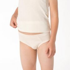 Boy's white slip in organic cotton