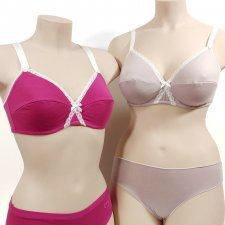 Bra in Modal and Cotton with Lace