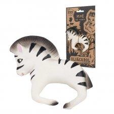 Braccialetto da dentizione Zoe la Zebra in caucciù naturale