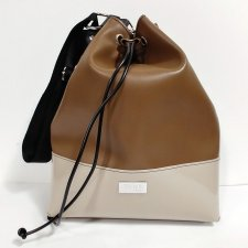 Mud Bucket bag in vegetable faux-leather and recycled pvc