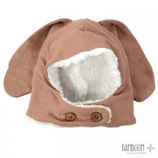 Bunny winter bonnet in organic bamboo