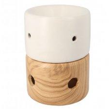 Burner with wood effect base