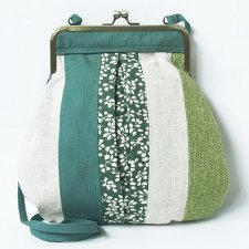 Butterfly bag in linen Country Flora Fairtrade