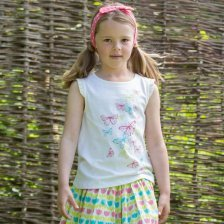 Butterfly top in organic cotton