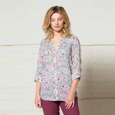 Button through shirt in cotton