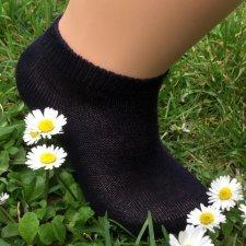 Calza a scarpina in cotone biologico tinto bambini
