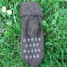 Calze antiscivolo in lana naturale non tinta