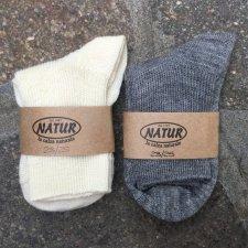 Calza corta in lana naturale e cotone bio