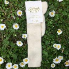 Calza lunga leggera in cotone biologico