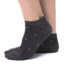 Calza Sneaker Antracite in Eucalipto-Tencel