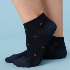 Calza Sneaker Blu in Eucalipto-Tencel
