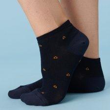 Calze Sneaker Blu in Eucalipto-Tencel
