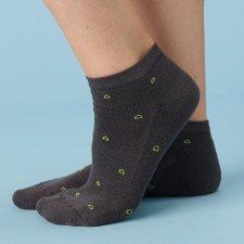 Calze Sneaker Sport grigio in Spugna di Eucalipto-Tencel
