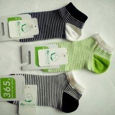 Calza a scarpina Righe in cotone bio