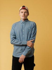 Camicia AJAY chambray da uomo in Cotone Biologico Equosolidale