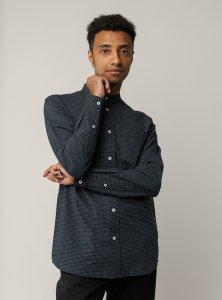 Camicia coreana AMIT Poplin da uomo in Cotone Biologico Equosolidale