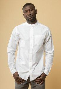 Camicia coreana AMIT White da uomo in Cotone Biologico Equosolidale