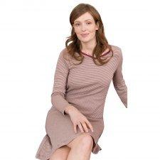 Camicia da notte righe donna in cotone biologico