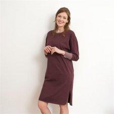 Camicia da notte vinaccia donna in cotone biologico