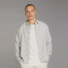 Camicia DELLER a righe da uomo in 100% Cotone Biologico