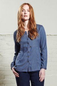 Camicia Denim donna in cotone equo solidale