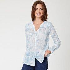 Camicia donna a maniche lunghe in cotone biologico