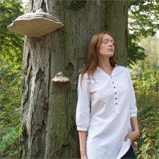 Camicia donna lunga in lino e cotone biologico