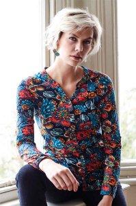 Camicia Koi con collo a V in Cotone Biologico