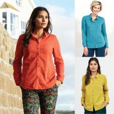 Camicia Tinta unita in Cotone Equosolidale