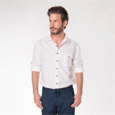 Camicia uomo manica lunga lino e cotone biologico