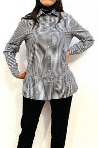 Camicia PATELLA a quadretti in cotone e seta, moda etica e sostenibile