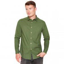 Camicia Verde Khaki in canapa e cotone biologico