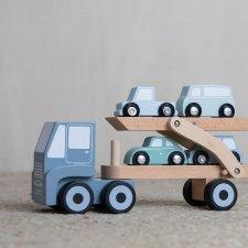 Camion porta macchinine in legno