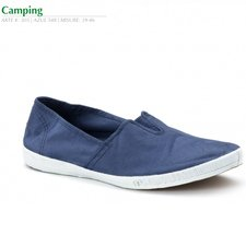 Camping man summer shoe in organic cotton canvas